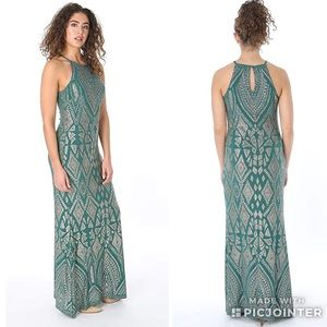 Jump Apparel Emerald Glitter Maxi Dress